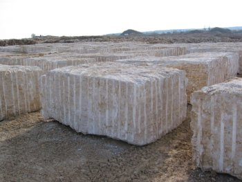 Jura marble raw blocks