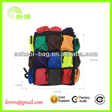 New Fashion Backpack with lots of multifunctional pockets