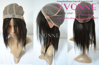 New style Silk top glueless cap Indian hair full lace wig double knotted
