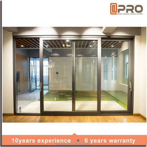 Double Shed Steel Doors The Hall Bedroom Stacker Frames Aluminum Alloy Fire Protection Sliding Door With Tinted Glass