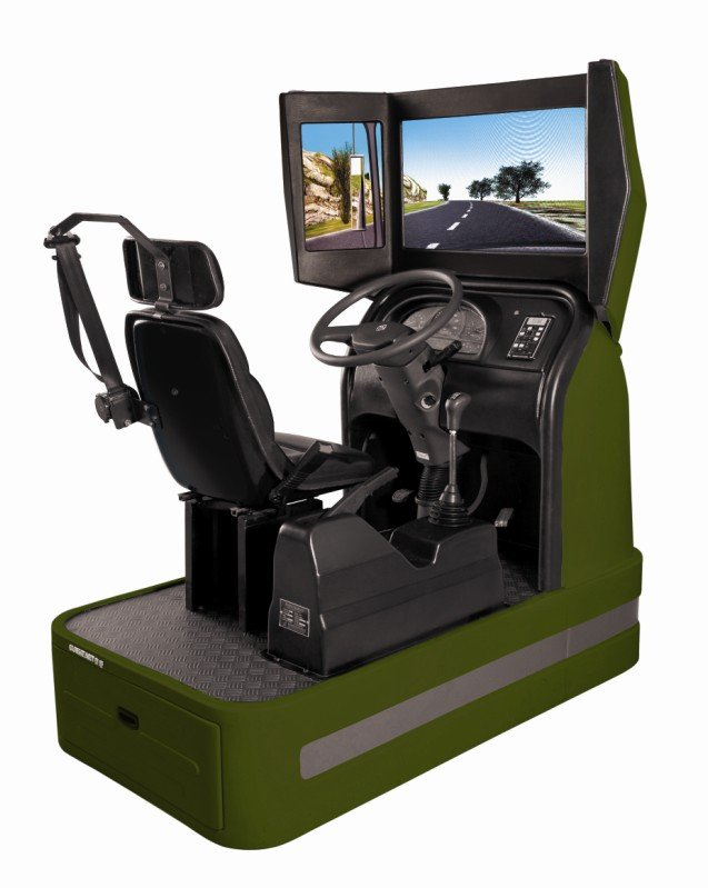 3D visual car driving simulator with right/left hand design
