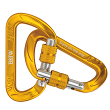 Wholesale Good Quality D Shape Lightweight Aluminum Climbing Carabiner with Snap Lock