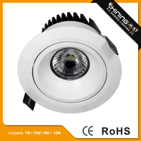 Swivelling cob led recessed downlight,semi trimless multi downlight