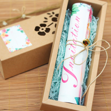 Roll wedding invitation card
