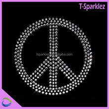 hottest sell in german love and peace hot fix rhinestone motifs