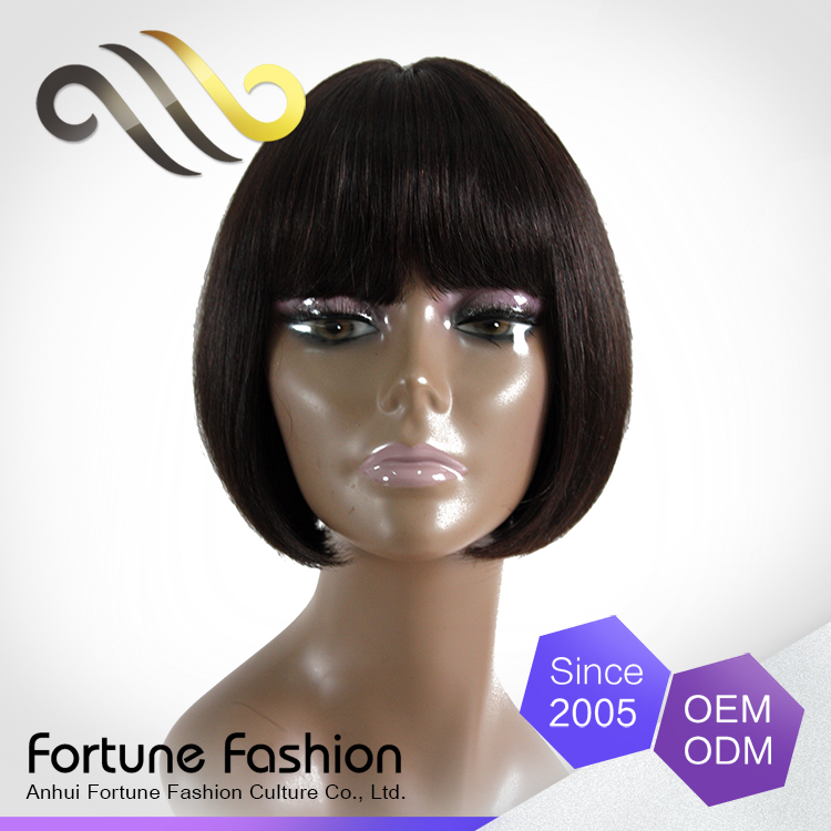 Good Selling Eroup Human Hair Wig, Asian Women Hair Lace Front Wig Short Style Fall Hair Colors 2015