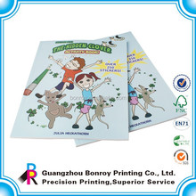 full color softcover customized sticker book