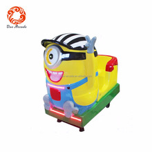 Indoor Kids Coin Operated Rocking Amusement Minions Kiddie Ride Game Machine Cheap Price