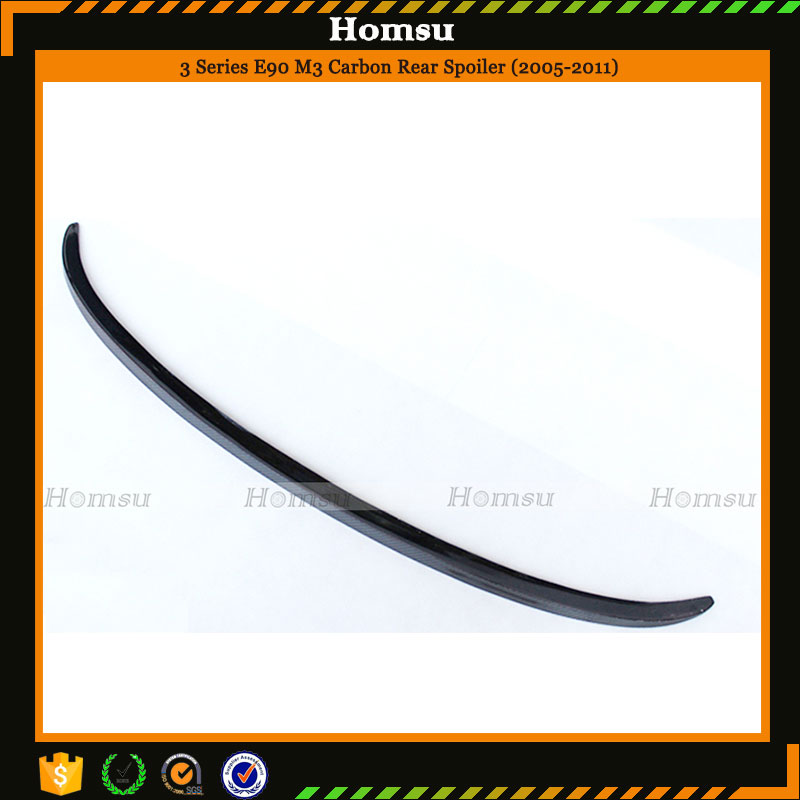 M3 style carbon fiber car accessories trunk rear spoiler for 2005-2011 E90 3series