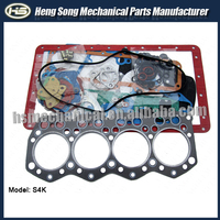 Excavator engine S4K overhaul kit / full gasket set 34494-01030 34294-00011