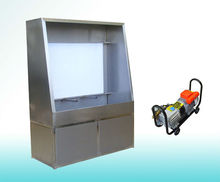 Manual screen washout booth with backlight,manual screen washing machine
