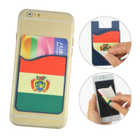 mobile phone screen wipe stickers card holder