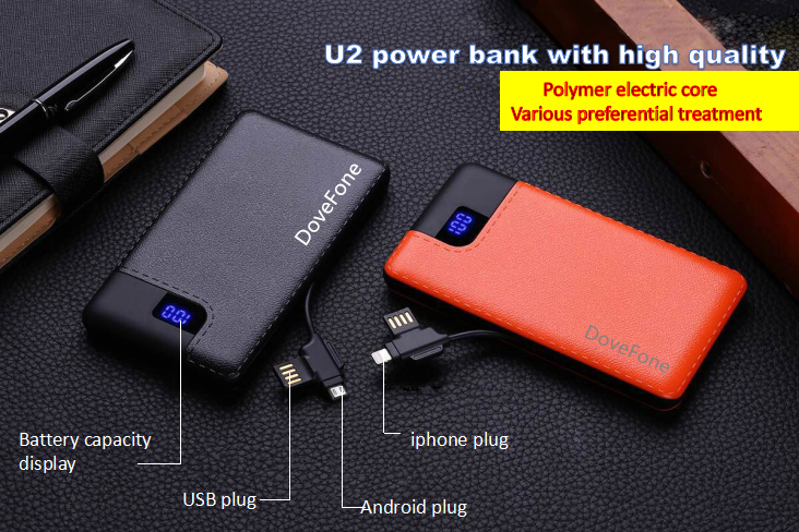 2017 Li-polymer 4000mah USB Charging Customized Logo Ultra Slim Portable power bank
