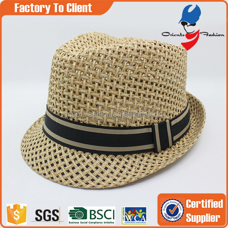Factory promotional blank paper straw hat