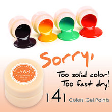 #50618X 5ml Jar High Profit 141 Colors CANNI Nail Art Color Gel Fast Dry Nail Paint Private Label UV Gel Manufacturer Factory