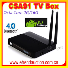 Hot Selling! All Aluminum House csa 91 octa core smart tv box rk3368 2g/16 Android TV Box brazil and chile iptv set top box