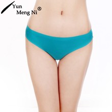 Yun Meng Ni Ladies brand new product women sexy underwear hipster young girl ice silk seamless transparent lace panty
