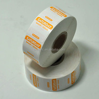 FIFO Removable food safety label ,Food expiration label with trilingual