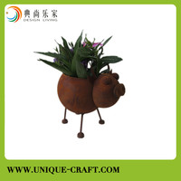 2015 Paypal nature rustic cow flower planter for garden and home