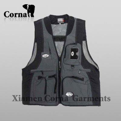 Multifunction Pockets Mesh Men Hunting Fishing Vest