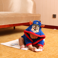 Oem Quick-drying Cotton Kids Bathrobe Wholesale With Animal Hood Embroidery Design Bathrobe