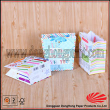 Cute gift birthday candles packaging mini paper bags