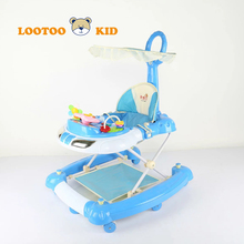 new styles height adjustable multi-functional foldable steering wheels rocking baby walker OEM walking toys for infants