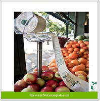 Meet france regulation ,compost home certified ,30% bio based, biodegradable produce plastic bag for fruits and vegetable