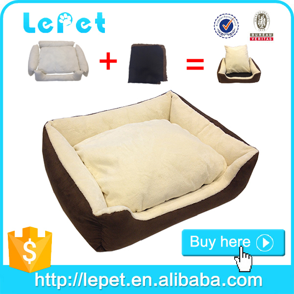Factory soft material dog bed removable cushion with lowest price