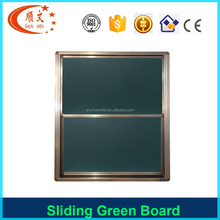 Up an down sliding vertical magnetic green board for university school chalkboard blackboard