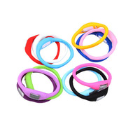 Wholesale Silicone Rubber Jelly Ion Unisex Mens Womens Boys Girls Sports Bracelet Wrist Watches