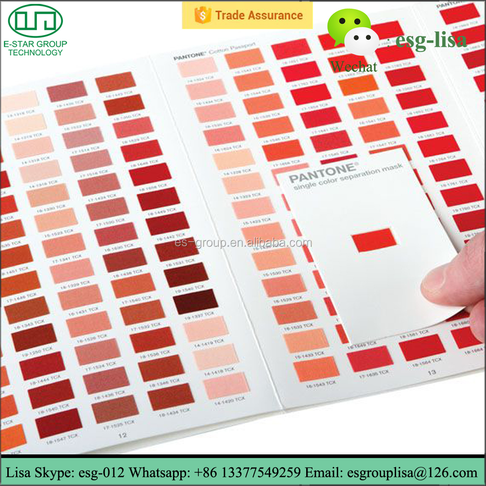 Screen Printing TCX Pantone Color Book FHIC200 Paint Color Chart