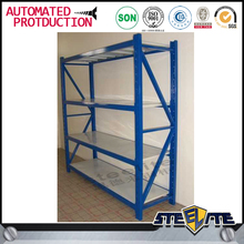 Outdoor ventilated modular metal shelving unit, 4 tier industrial shelving