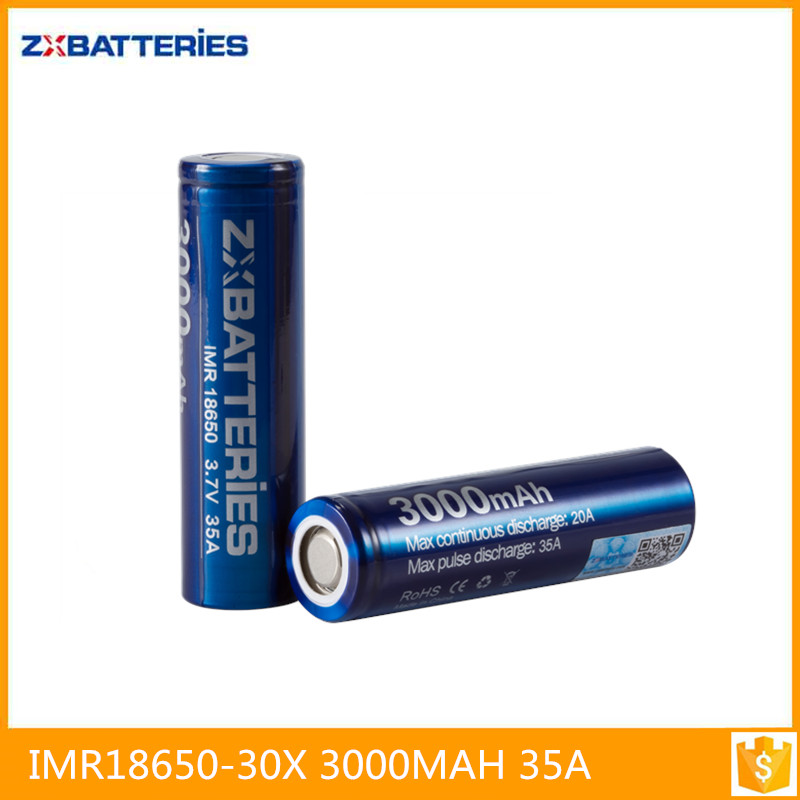 Good price Zxbattery 3000mah 35A Transparent plastic hard case Batteries