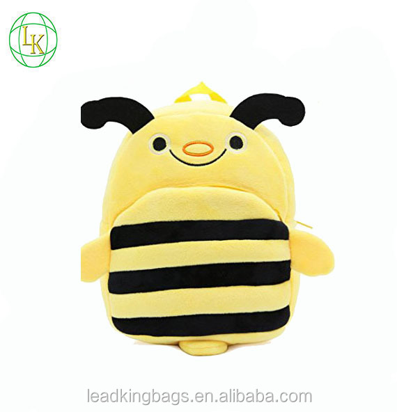Cute animal bee kids little backpack simple school bag children for snacks and books
