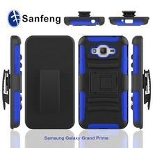 Safety holster belt clip case with kickstand combo case for cell phone for samsung galaxy grand prime