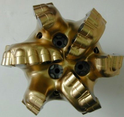 """8 1/2"""" Matrix PDC Bit PCD Bit Fixed-Cutter Bit with Five Blades and Double-Row Cutters"""