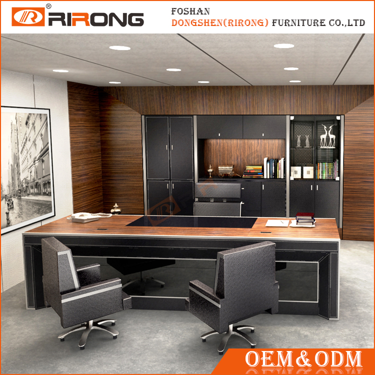 2017 luxury custom made modern office executive desk ceo big boss manager table