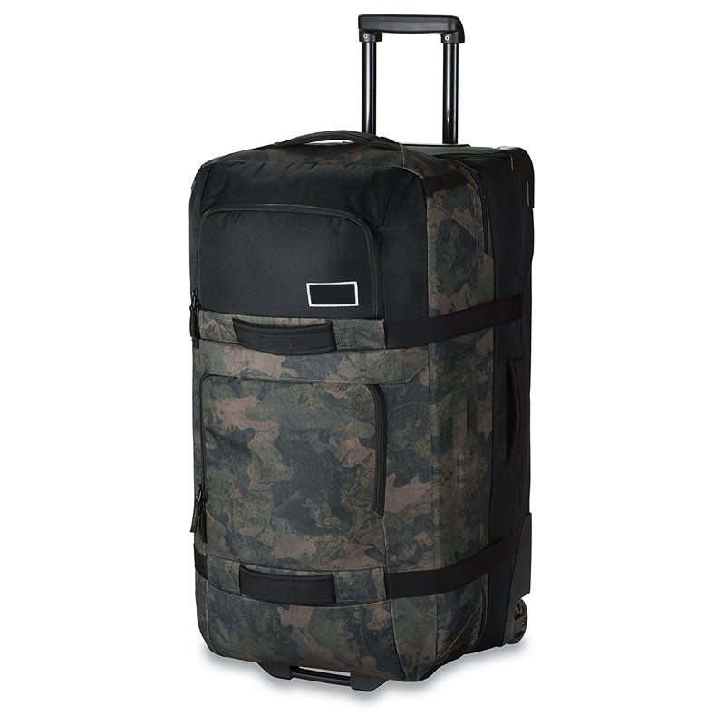 hot sale brand trolley luggage with camo figure with belt for wholesale