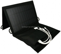 S9 6V 7W Solar power charger bag rechargeable portable package solar charger for mobile ipad