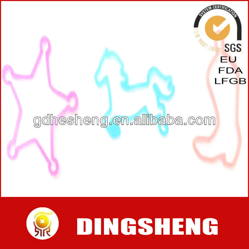 ECO-friendly silicone hair rubber bands star shape rubber bands