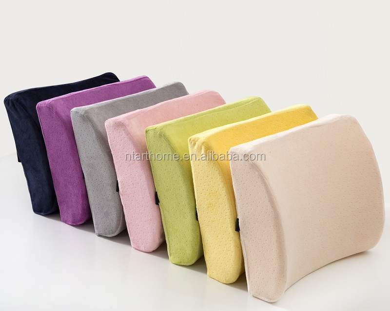 Polyester Fibre Filling and Adults Age Group Car Back Support Memory Foam Cushion
