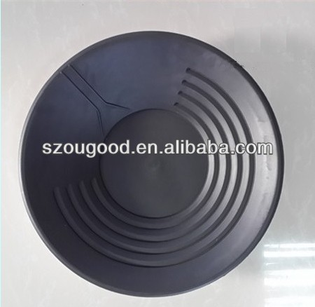 round plastic gold pan, river gold washing pan