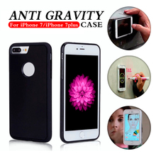 2016 nano suction case selfie sticky phone case anti-gravity mobile back cover for iphone 7/7plus