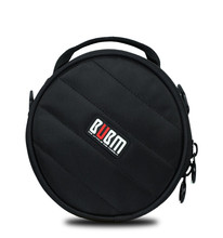BUBM Portable Headphone Carrying Case Nylon Earphone Pouch Bag