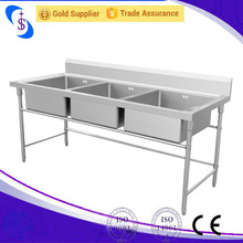 Triple Bowls Sink Table,Sink Table,Stainless Steel Wash Basin