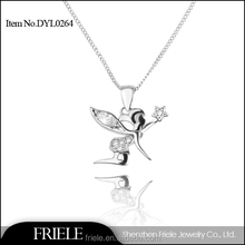Popular Angel Girl Design 925 Silver necklace