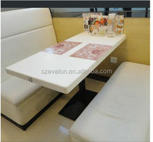 Reasonable price hot selling restaurant dining table set,solid surface restaurant Table with Chairs