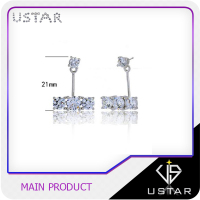 Bridal Jewelry Sterling Silver Diamond Hoop Earrings For Women Wholesale