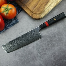 7 inch Japanese VG10 damascus steel kitchen cleaver nakiri knife